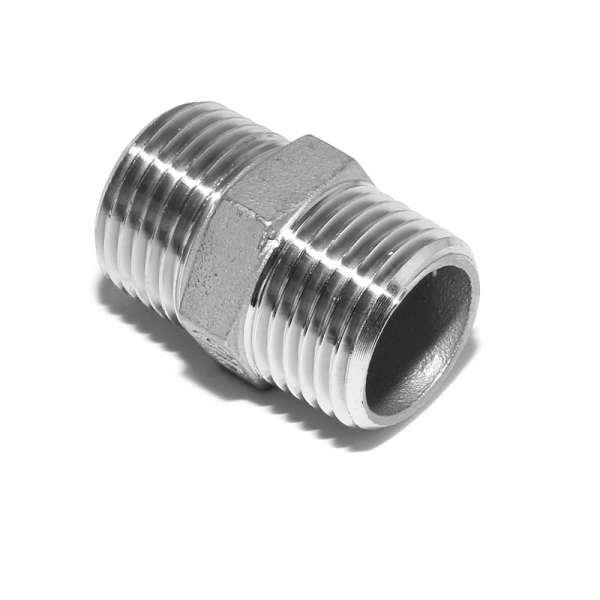 Hage Doppelnippel Edelstahl R 1/2'' x R 1/2'' (AG) Artnr. 21150034