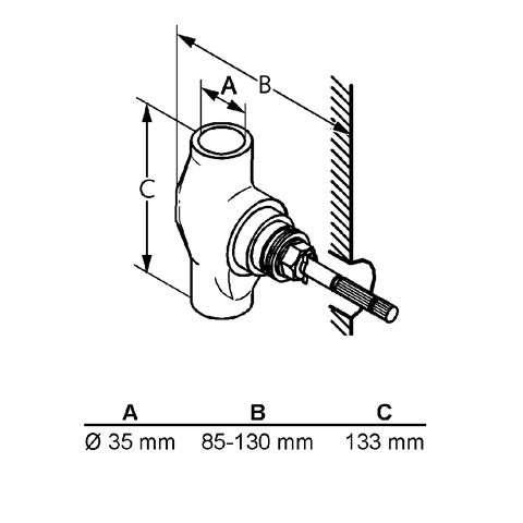 KLUDI Unterputzventil 35mm STANDARD Bausatz 1 29515