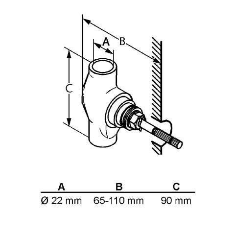 KLUDI Unterputzventil 22mm STANDARD Bausatz 1 29511