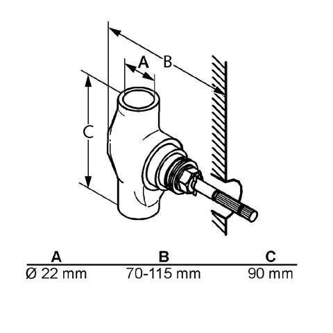 KLUDI Unterputzventil 22mm AMBIENTA keramisches Oberteil Bausatz 1 Neutral 29911