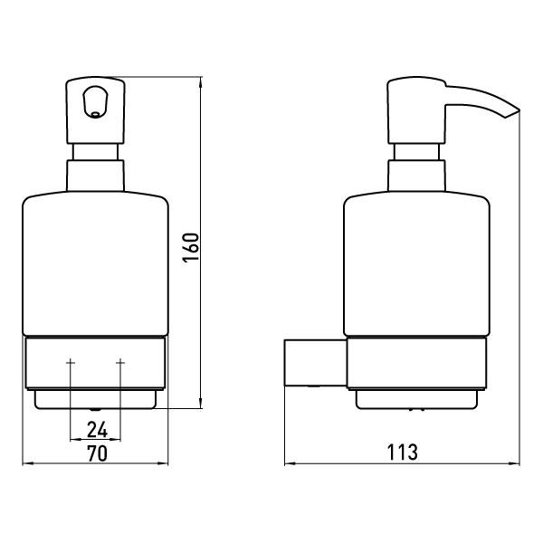 emco loft seifenspender glas satiniert kunststoffpumpe chrom 052100101 ebay. Black Bedroom Furniture Sets. Home Design Ideas