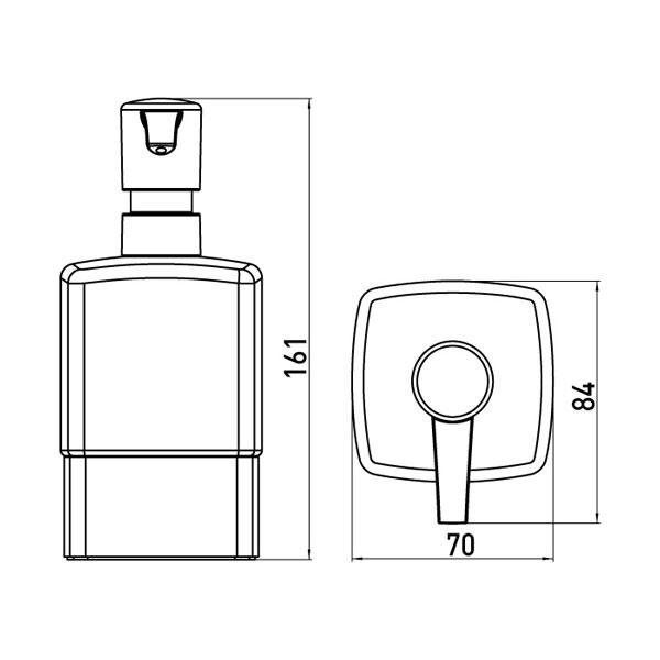 emco loft seifenspender standmodell glas satiniert kunststoffpumpe 052100102 ebay. Black Bedroom Furniture Sets. Home Design Ideas