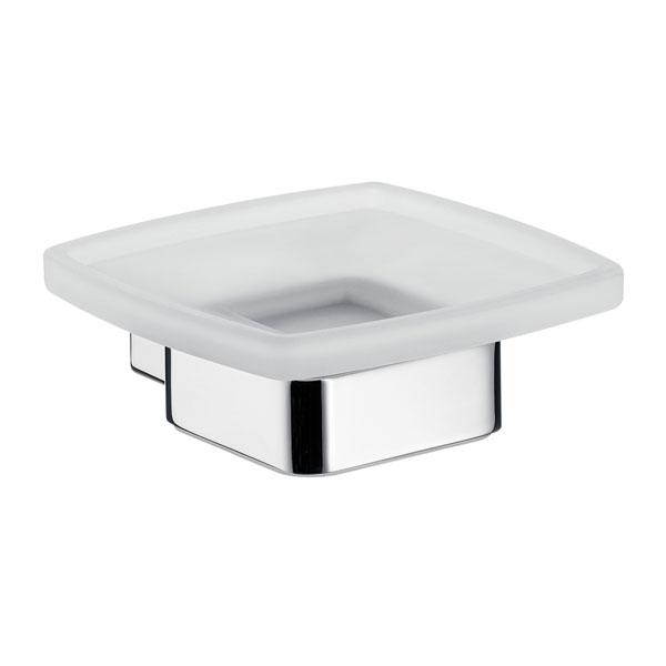 emco loft seifenhalter kristallglas satiniert chrom 053000100 ebay. Black Bedroom Furniture Sets. Home Design Ideas