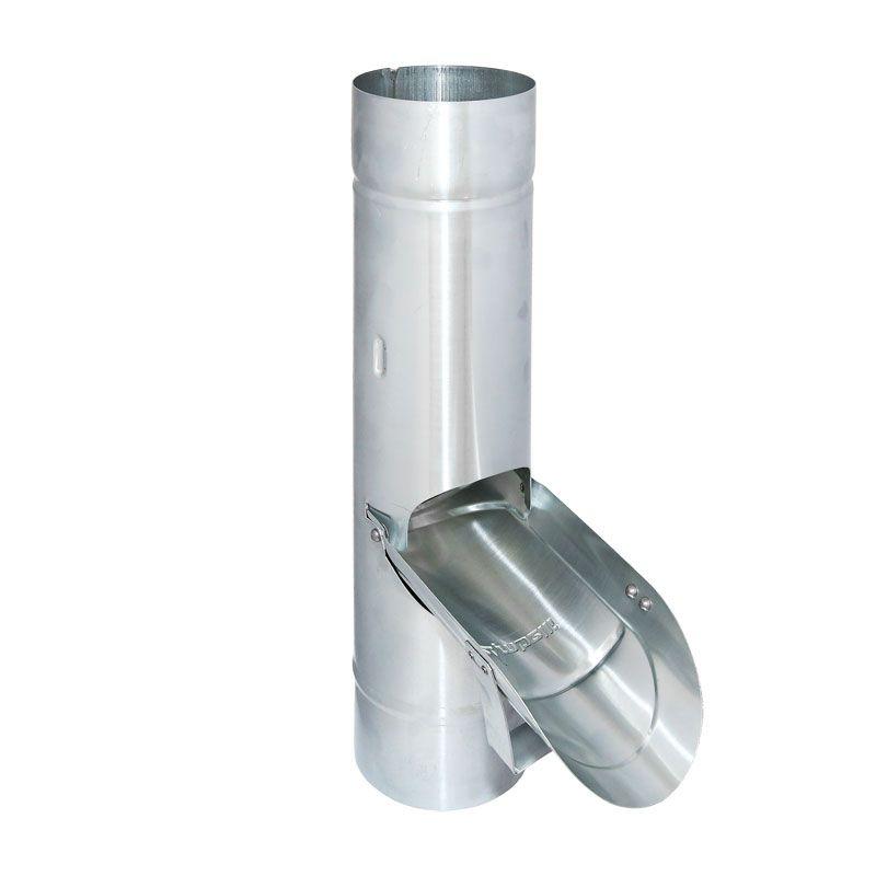 Fallrohrklappe o.Sieb Regenwasserklappe Regenrohrklappe Titanzink Ø 120-60mm