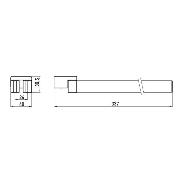 emco loft handtuchhalter zweiarmig schwenkbar 310mm chrom 055000131 ebay. Black Bedroom Furniture Sets. Home Design Ideas