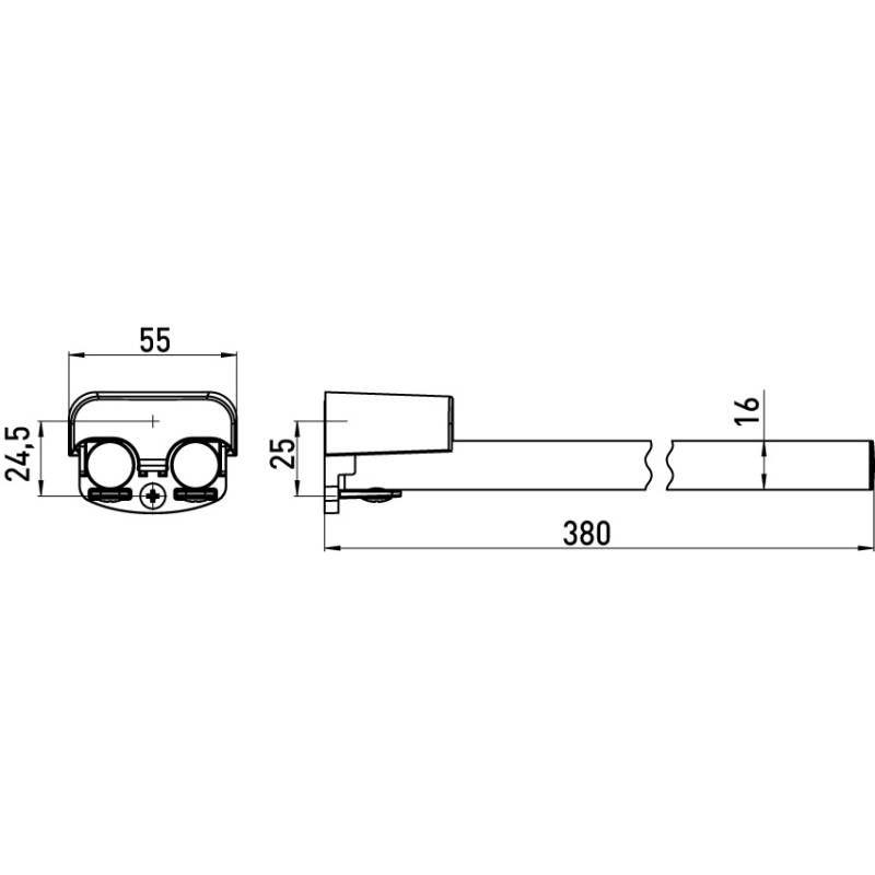 emco logo 2 handtuchhalter zweiarmig schwenkbar 380mm chrom 305000138 ebay. Black Bedroom Furniture Sets. Home Design Ideas